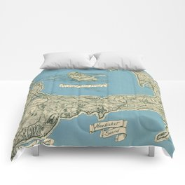 Vintage Map of Cape Cod (1945)  Comforters