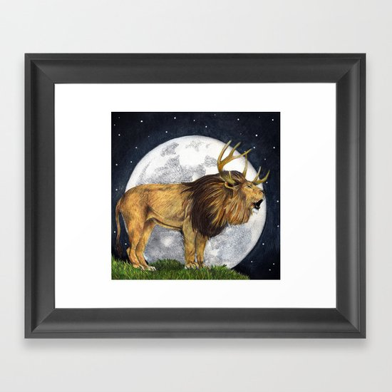 Lion Hart Framed Art Print