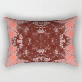 Living Coral Shibori Tye Dye Rectangular Pillow