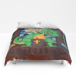Preachasaurus Rex Comforters