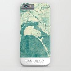 San Diego Map Blue Vintage Slim Case iPhone 6s