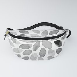 Watercolor brush strokes - black and white Fanny Pack