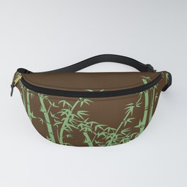 Bamboo design green - brown Fanny Pack