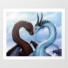 Dragon Love Art Print
