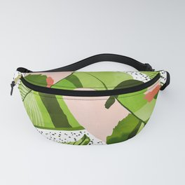 Blushing Leaves #illustration #painting Fanny Pack