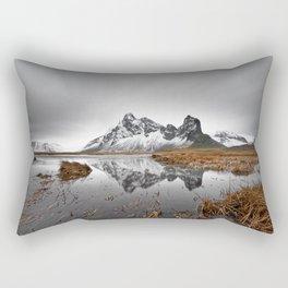 Mountain range with reflection Rectangular Pillow