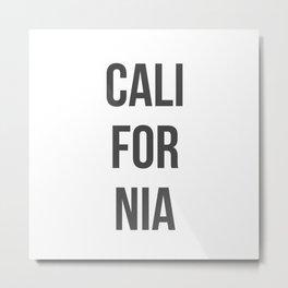 California in Gray Metal Print