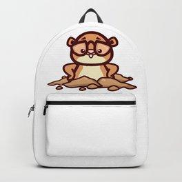 Funny Retro Groundhog Lover Gift design Backpack