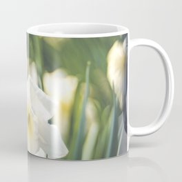 White Daffodil Narcissus Bokeh Coffee Mug
