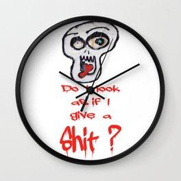 Do I give a shit? Wall Clock