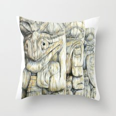 Haida Totems Throw Pillow