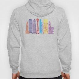 Seattle V2 skyline pop Hoody