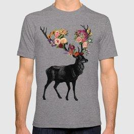 Spring Itself Deer Floral T-shirt