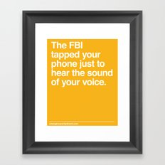 FBI Tapping Framed Art Print