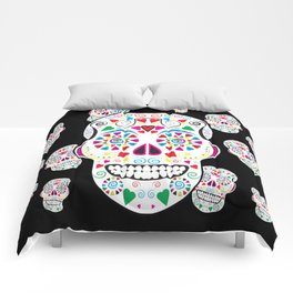 I love Candy Skulls Comforters