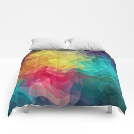 Abstract Color Wave Flash Comforters
