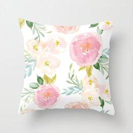 Sweet Pink Blooms (Floral 02) Deko-Kissen