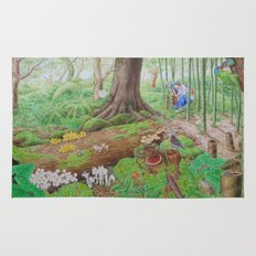 A Day of Forest (4). (the lake ecosystem) Rug
