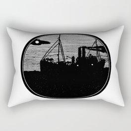 Silent boat. Rectangular Pillow