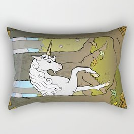 Autumn Unicorn Rectangular Pillow