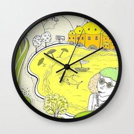 Lemon paradise Wall Clock
