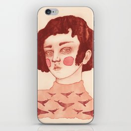 A Girl and her Whales iPhone Skin