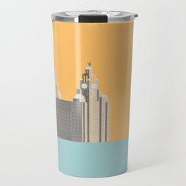 Liverpool Liver Building Print Travel Mug