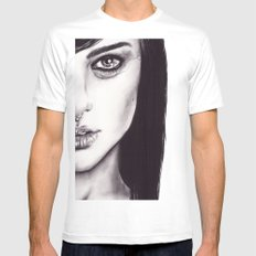 Under Your Bed (Natalie Portman)  White MEDIUM Mens Fitted Tee