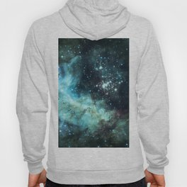 Teal Green Galaxy : Celestial Fireworks Hoody