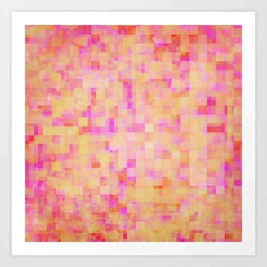 Happy Pixels Art Print