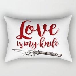 LOVE is my KNIFE Rectangular Pillow