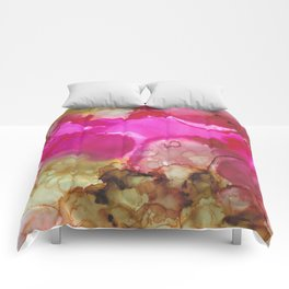 Alcohol Ink 'Avocado Toast' Comforters