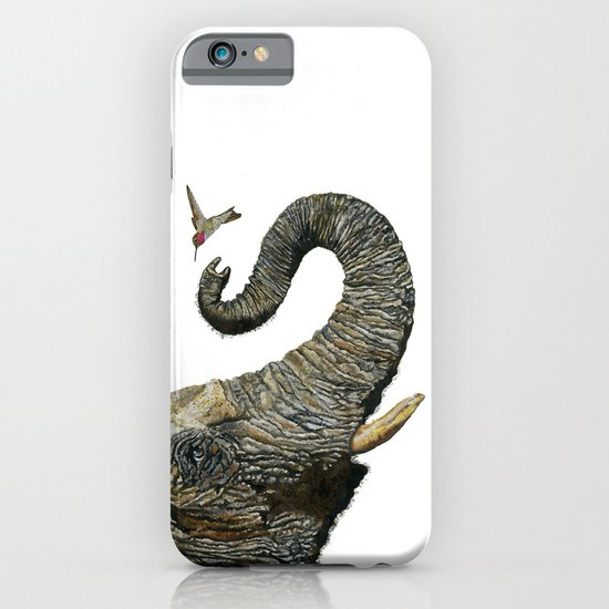 Elephant Cyril And Hummingbird Ayre 2 iPhone & iPod Case