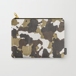 Desert Camouflage Retro Grunge Pattern Carry-All Pouch