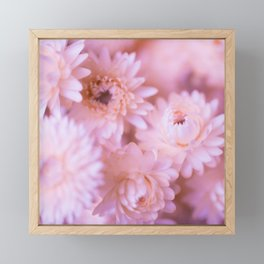 Lovely bouquet of pink flowers Framed Mini Art Print