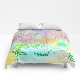 Pink Abstract Composition Comforters