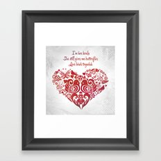 Baybeh Heart Haiku Framed Art Print