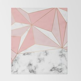 Marble & Geometry 042 Throw Blanket