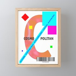 "Cocktail ""2nd C"" - Cosmopolitan Framed Mini Art Print"