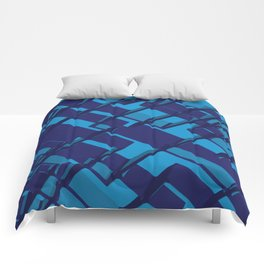 3D Abstract Futuristic Background X. 14 Comforters