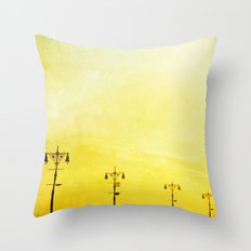 Coney Island Boardwalk Throw Pillow