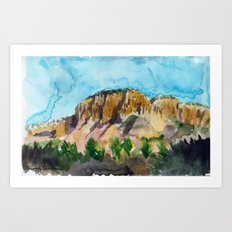 sunset in the valley Art Print