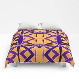 Gold and Purple Diadem Comforters