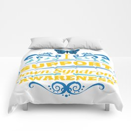 Down Syndrome Awareness Support Butterfly 21 Gift Comforters