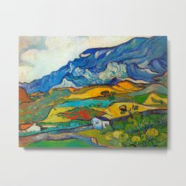 Les Alpilles, Mountain Landscape near South Reme Vincent van Gogh 1889 Metal Print