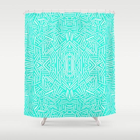 Radiate (Mint) Shower Curtain