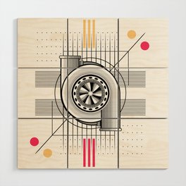 Turbo engine Wood Wall Art