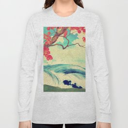 Waking to the Wild and Beautiful Ocean of Dhin Long Sleeve T-shirt