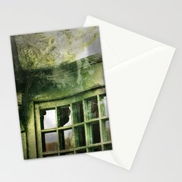 Green Architectural Elements Stationery Cards