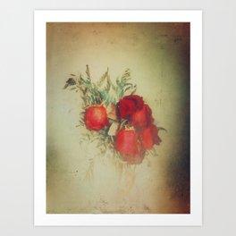 Vintage Red Roses Art Print